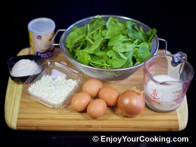 Spinach Crustless Quiche: Step 1