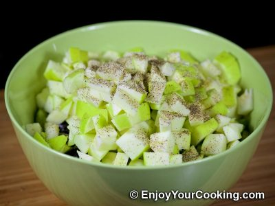 Apple and Cucumber Salad with Chicken: Step 6
