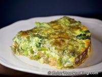 Salmon and Broccoli Frittata