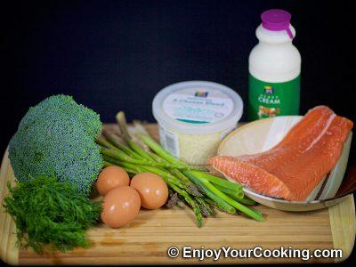 Salmon and Broccoli Frittata: Step 1