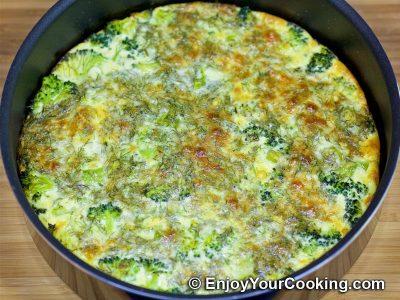 Salmon and Broccoli Frittata: Step 16