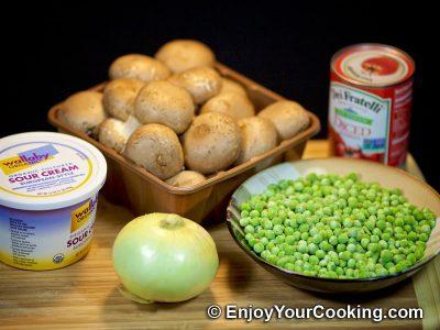 Mushrooms and Peas: Step 1