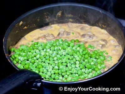 Mushrooms and Peas: Step 10