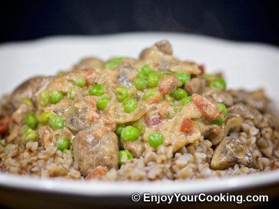 Mushrooms and Peas: Step 12