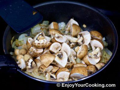 Mushrooms and Peas: Step 4