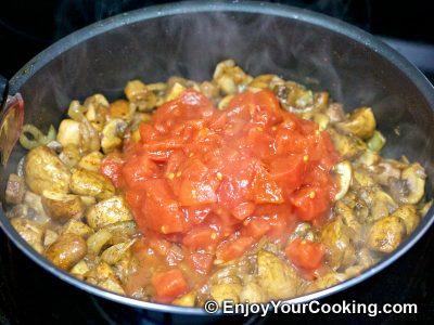 Mushrooms and Peas: Step 7