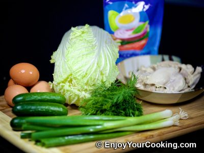 Napa Cabbage and Chicken Salad: Step