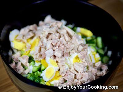 Napa Cabbage and Chicken Salad: Step 5
