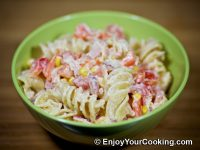 Noodle Salad with Canadian Bacon and Veggies